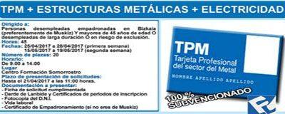"""CURSO """"TPM + Estructuras Metálicas + Electricidad (45 Horas)"""""""